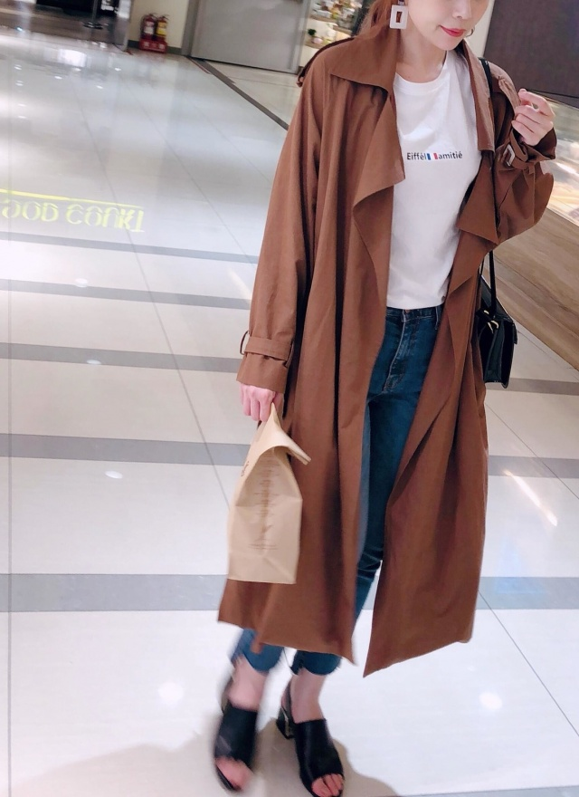 O0330質感大翻領風衣外套(特惠)