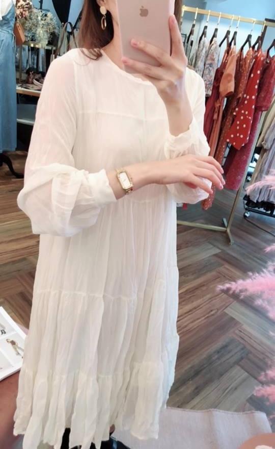 仙女飄逸皺褶洋裝