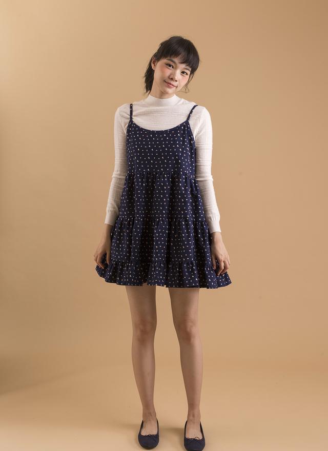 D0256 可愛細肩小花洋裝