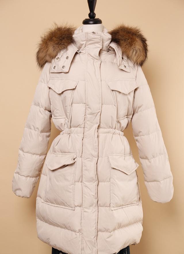 O0188 溫暖冬季米色鴨絨外套