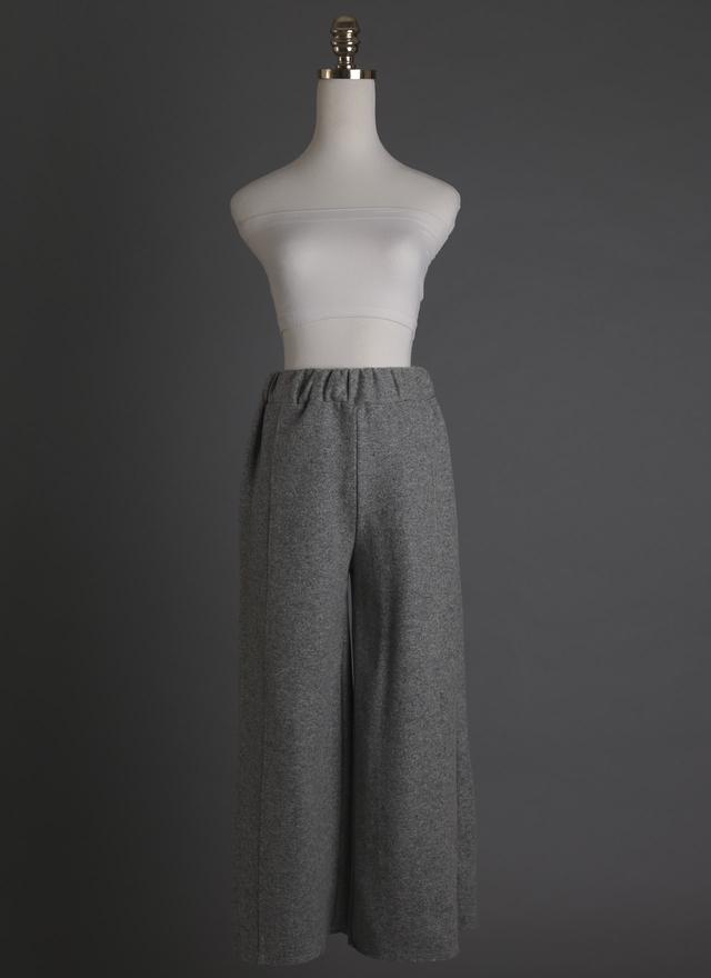 P0119 質感剪裁羊毛寬褲