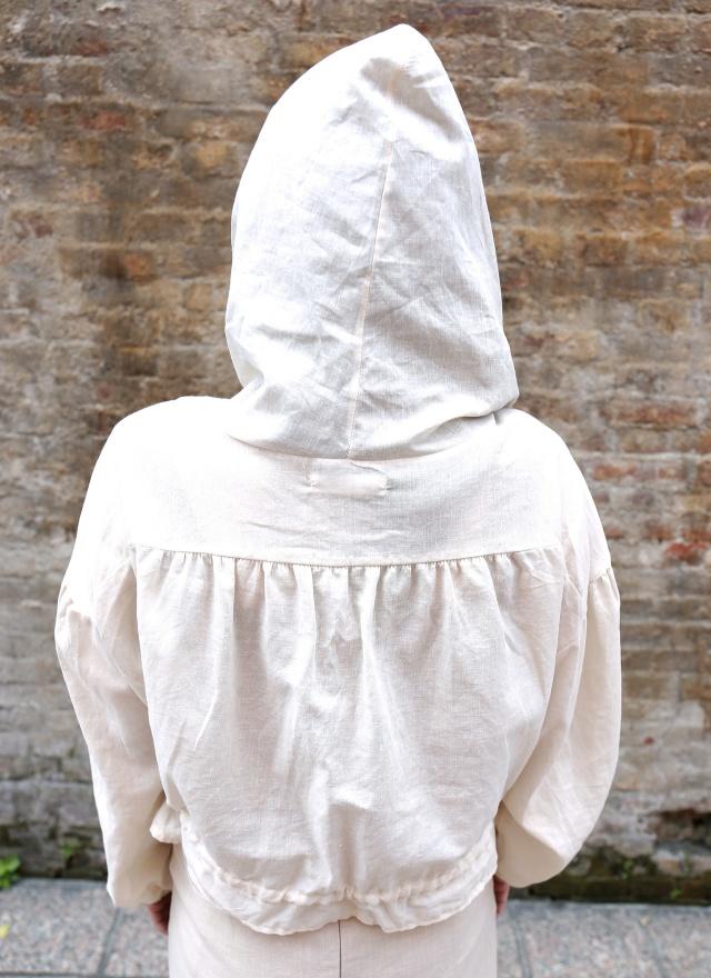 O0537燕麥棉麻連帽外套(特惠)
