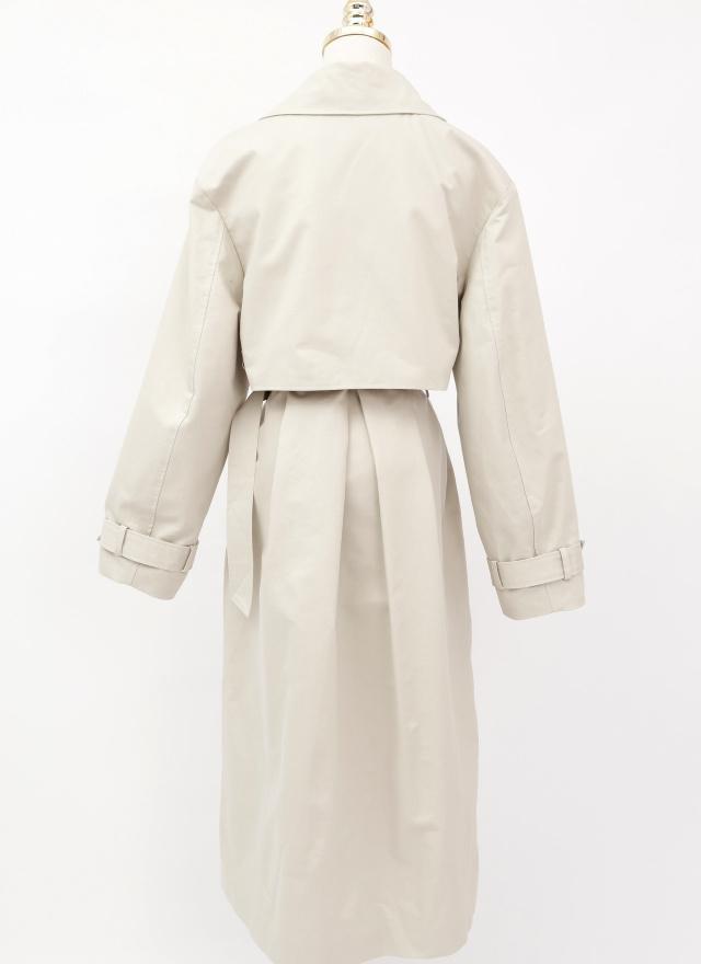 O0615萊昂釦飾造型風衣