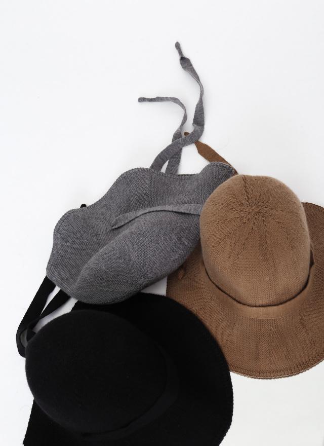 A0335溫潤質感針織圓帽(三色)