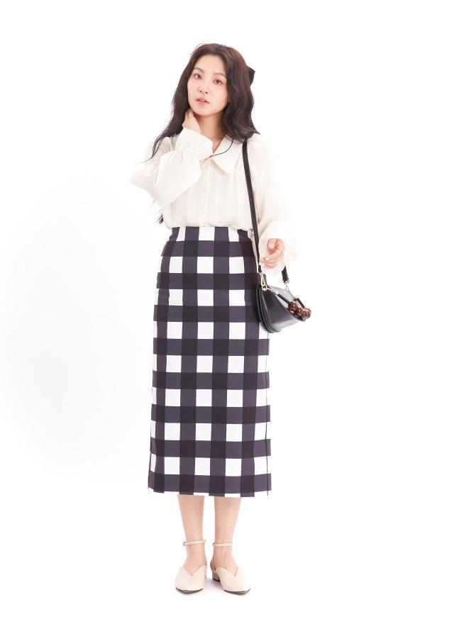 T1516姬瑪直紋小領襯衫