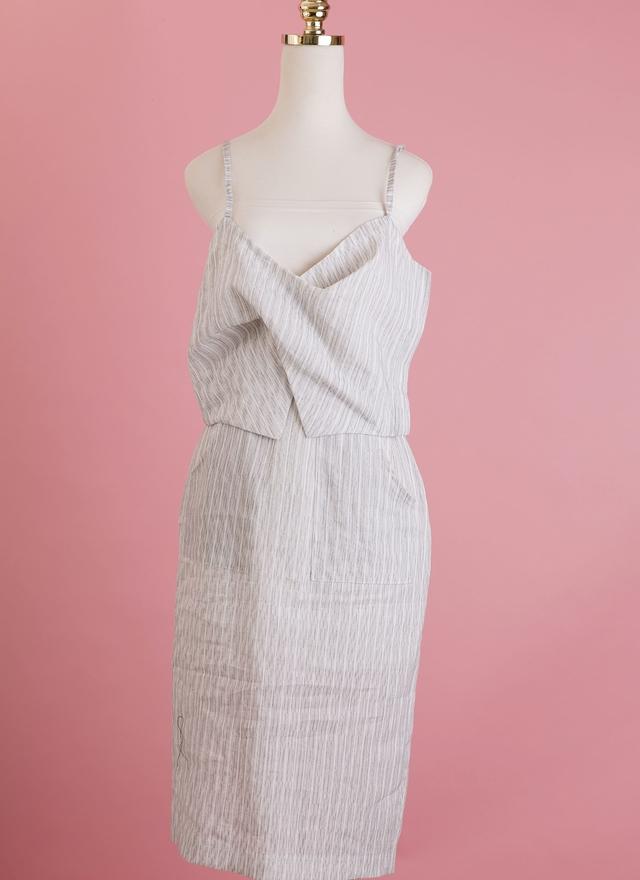 D0338 知性直紋裙裝