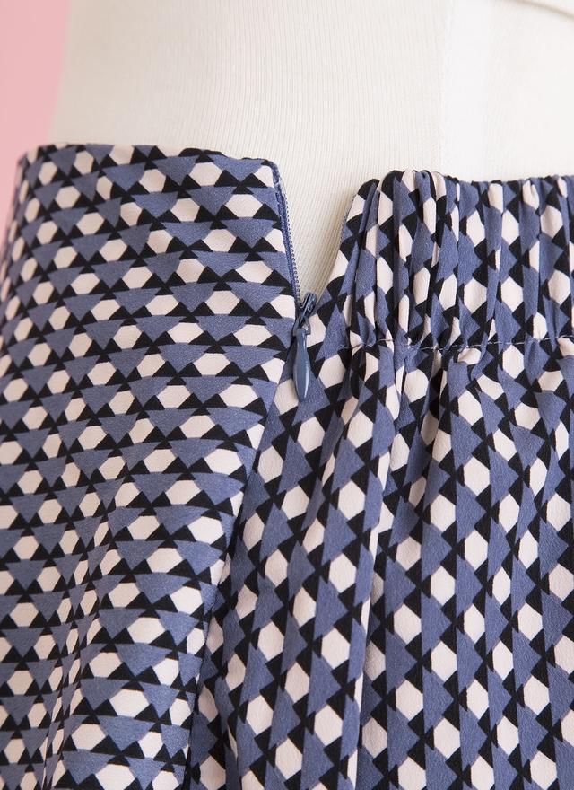 S0310 彩格三角層片裙