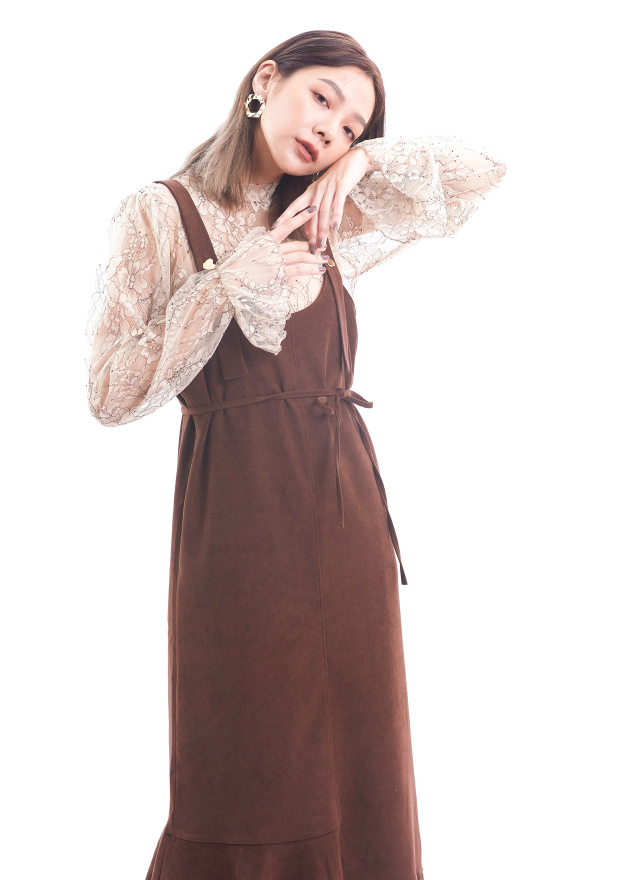 T1435香格映花網紗上衣