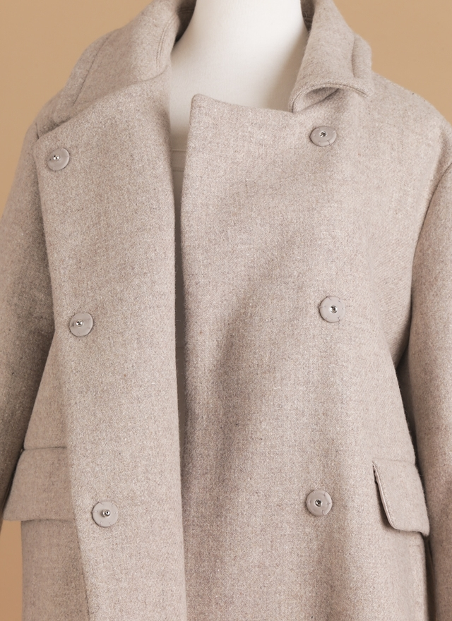 O0124 極簡翻領羊毛外套