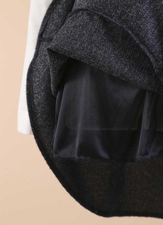 D0287 異質拼接魚尾襯衫洋裝