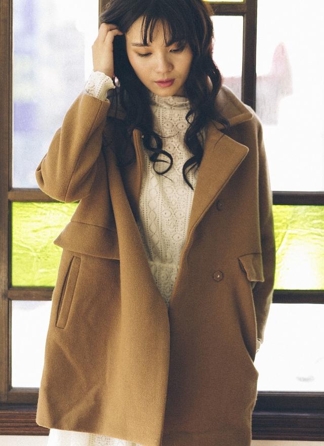 O0124 極簡翻領羊毛外套(駝)-訂製色