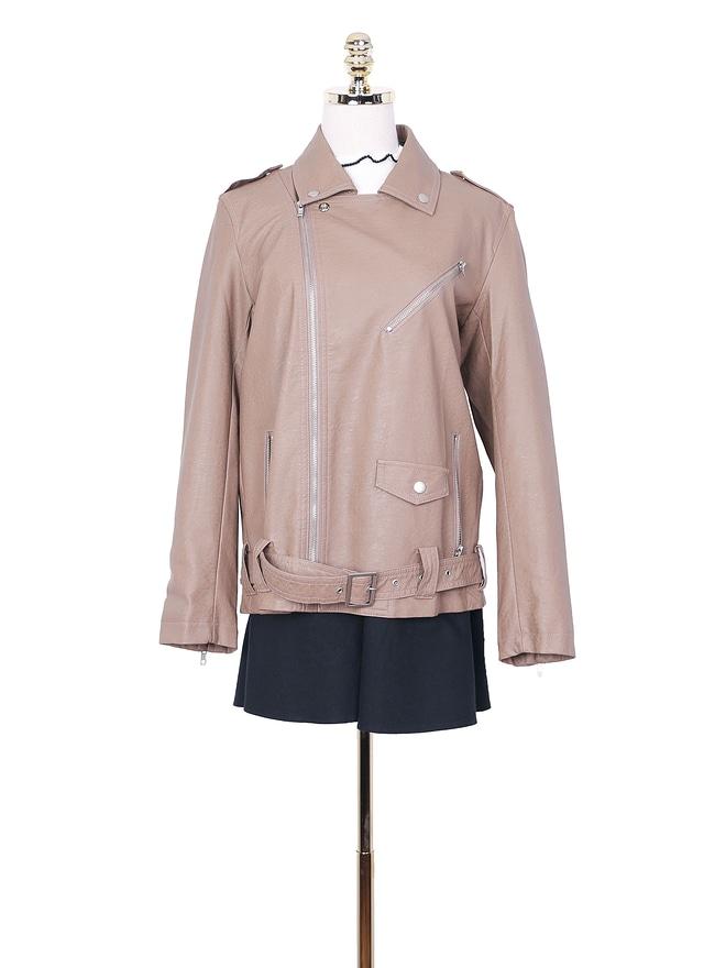 O0207絕美拉鍊皮革外套(特惠)