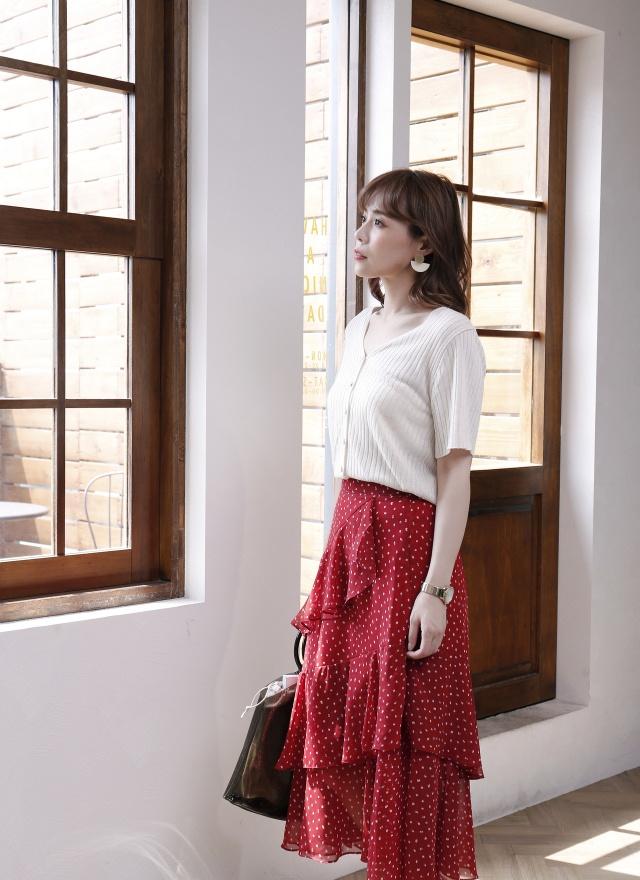 T1050 柔膚針織排釦上衣(兩色)
