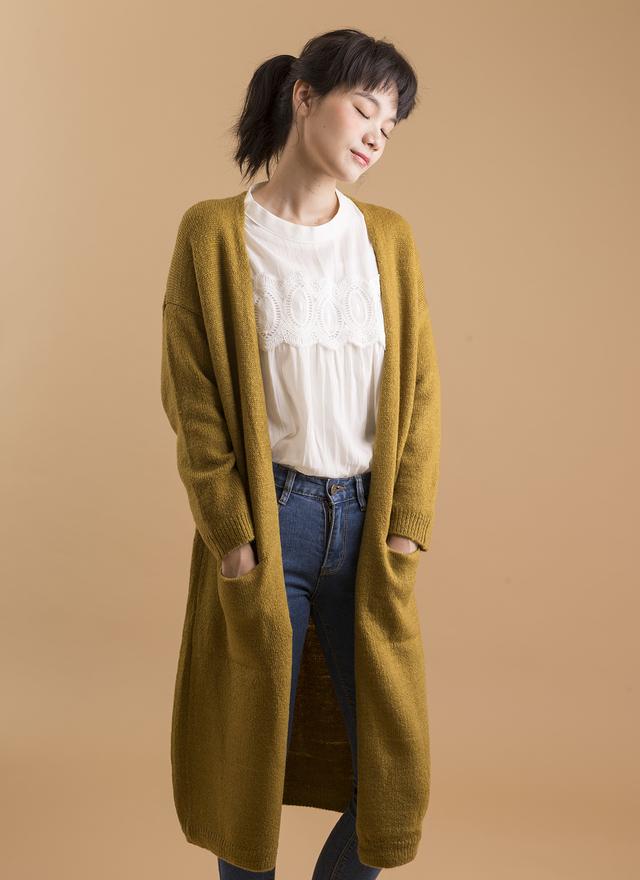 O0112 秋風窄身橄欖針織外套