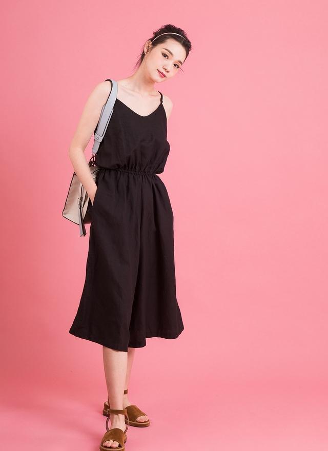 P0129 率性細肩吊帶褲裙
