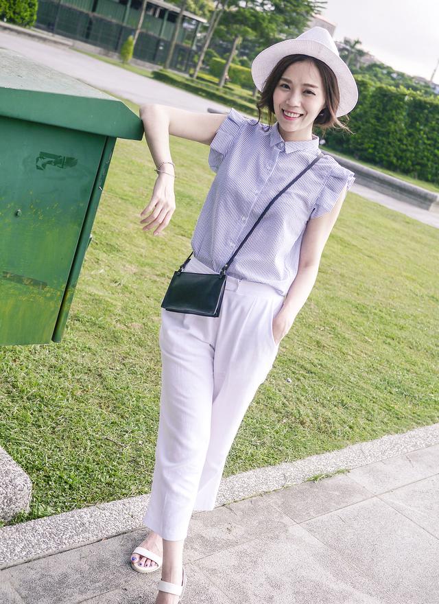 P0115 涼夏清新麻織長褲