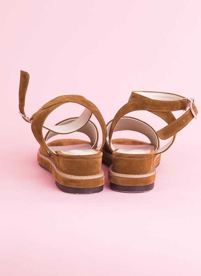 SH0058 絨布後交叉涼鞋