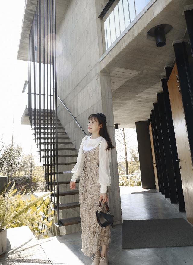 D1061棠花碎紋洋裝(兩色)