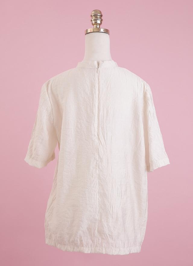 T0449 浪漫雲彩米色上衣