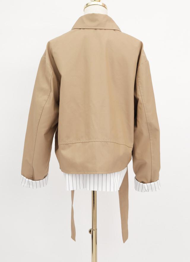 O0617紐曼拼接騎士外套