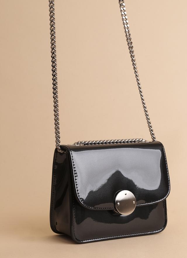 BA0062 珍珠光澤銀釦小包
