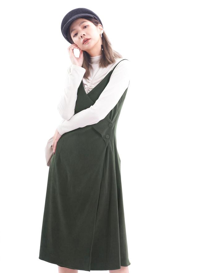 T1437細緻抓褶造型上衣(三色)