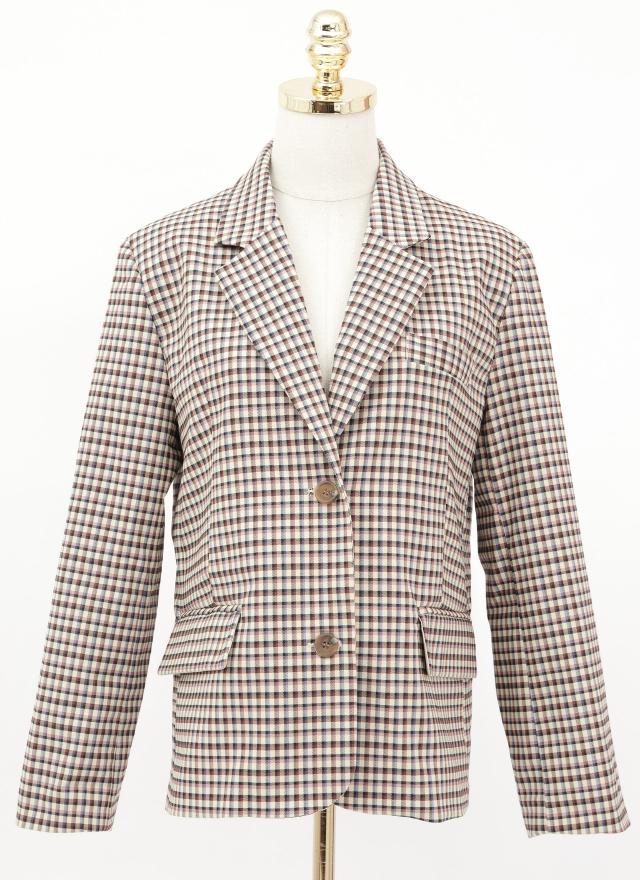 O0614艾西格紋西裝外套