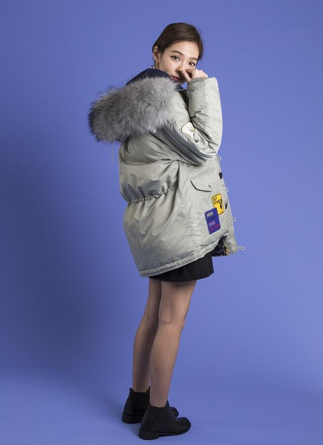O0125 特級鴨絨毛拼布外套