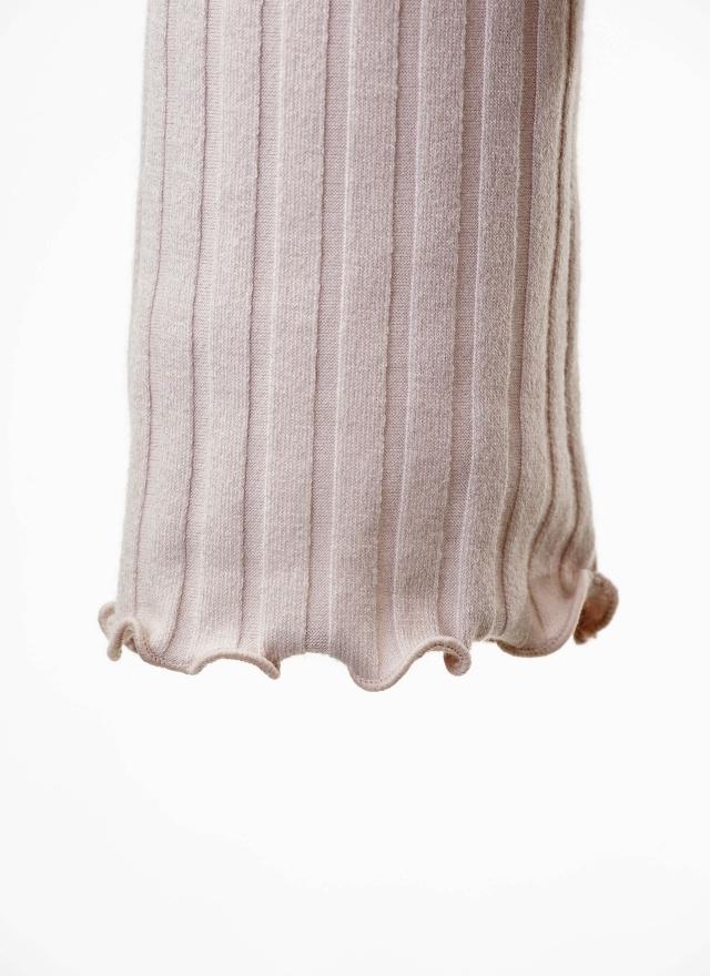 T0503 甜美花袖直紋上衣