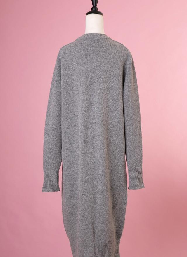 O0158 簡約灰色針織外套