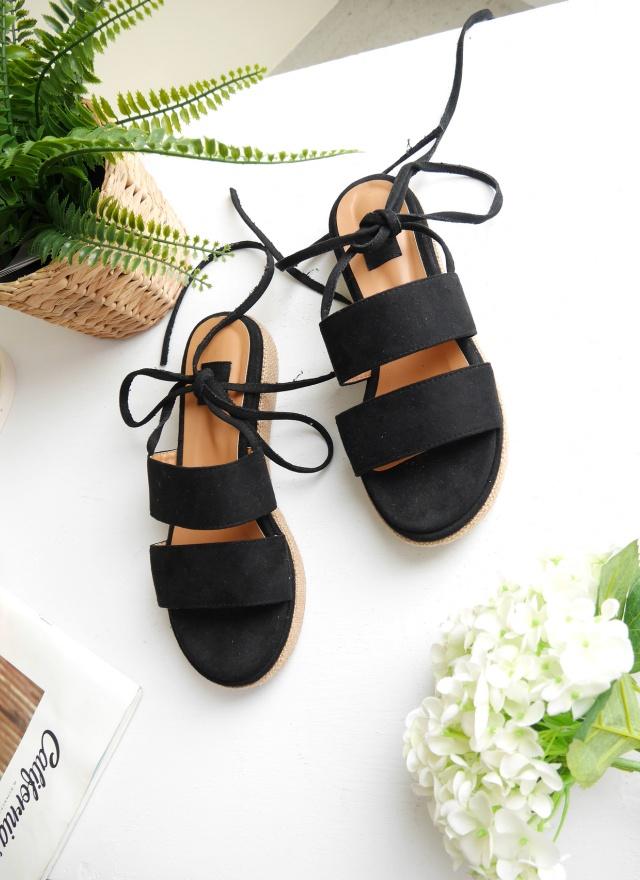 SH0150 隨興麂皮綁帶厚底鞋