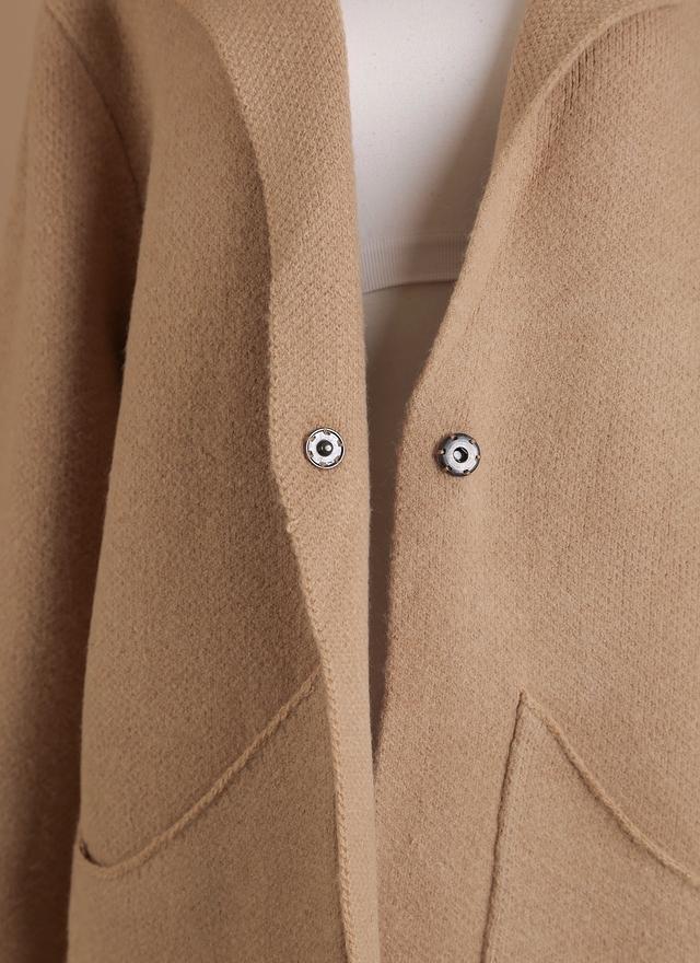 O0131 垂墜剪裁針織外套
