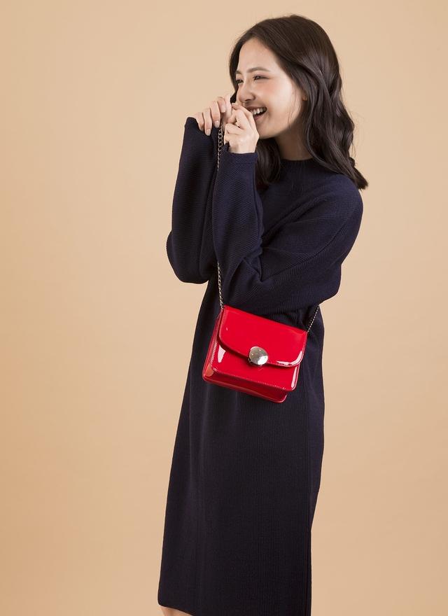 D0268 高雅剪領素色洋裝