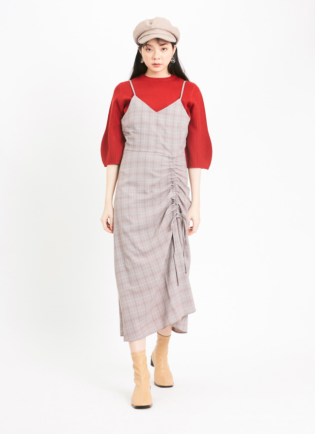 T1395簡約澎袖針織上衣(三色)
