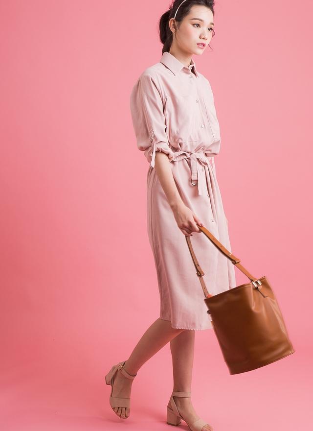 O0153 極簡質感襯衫外套洋裝