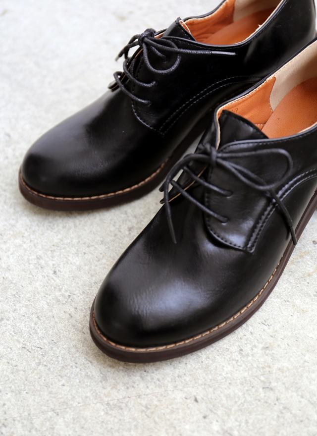 SH0196 氣質淑女牛津跟靴
