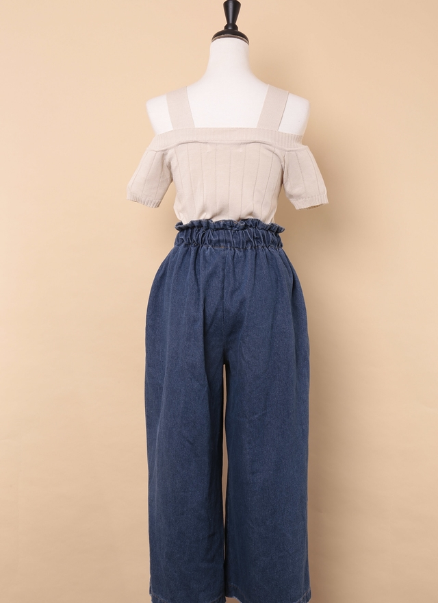 P0154 極簡牛仔寬褲