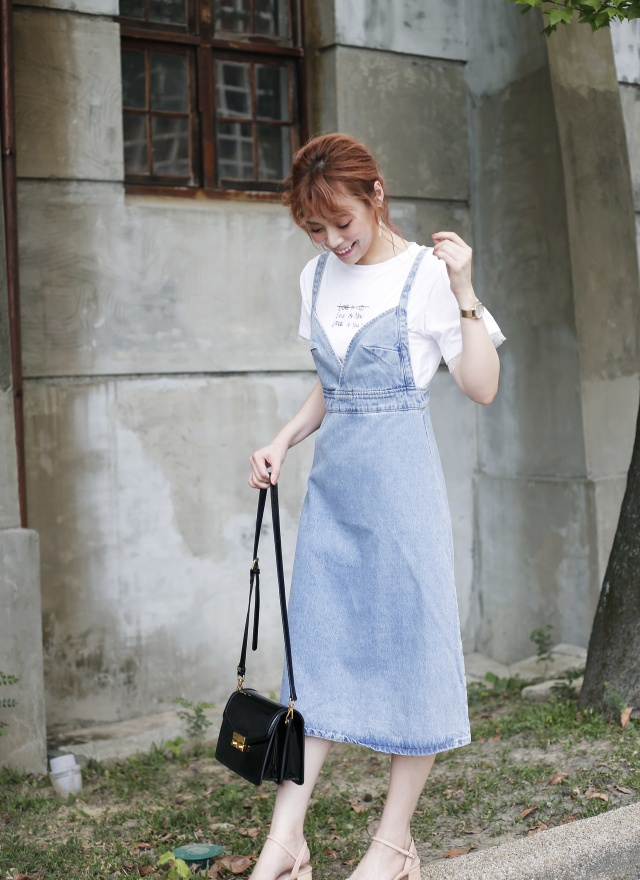 D0634 完美身線牛仔洋裝
