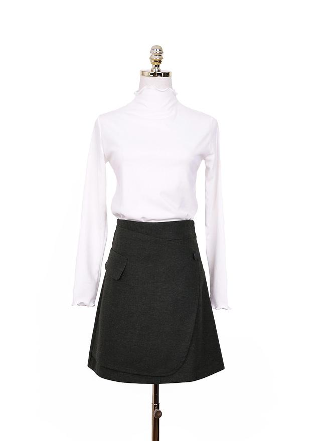 S0471 時尚鈕扣造型短裙 (兩色)
