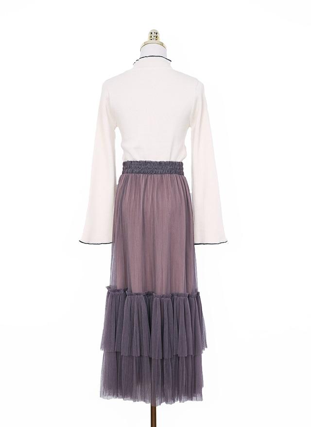 S0486 唯美藕紫層次紗裙
