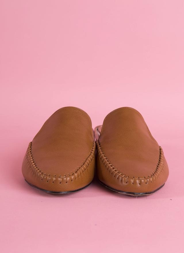 SH0064 質感車縫軟皮便鞋