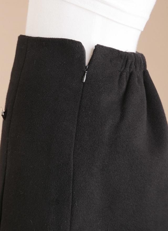 S0273 雙排金扣短裙