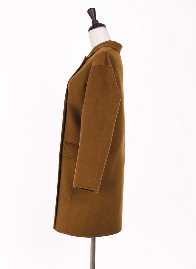 O0241 完美焦糖色手工羊毛大衣