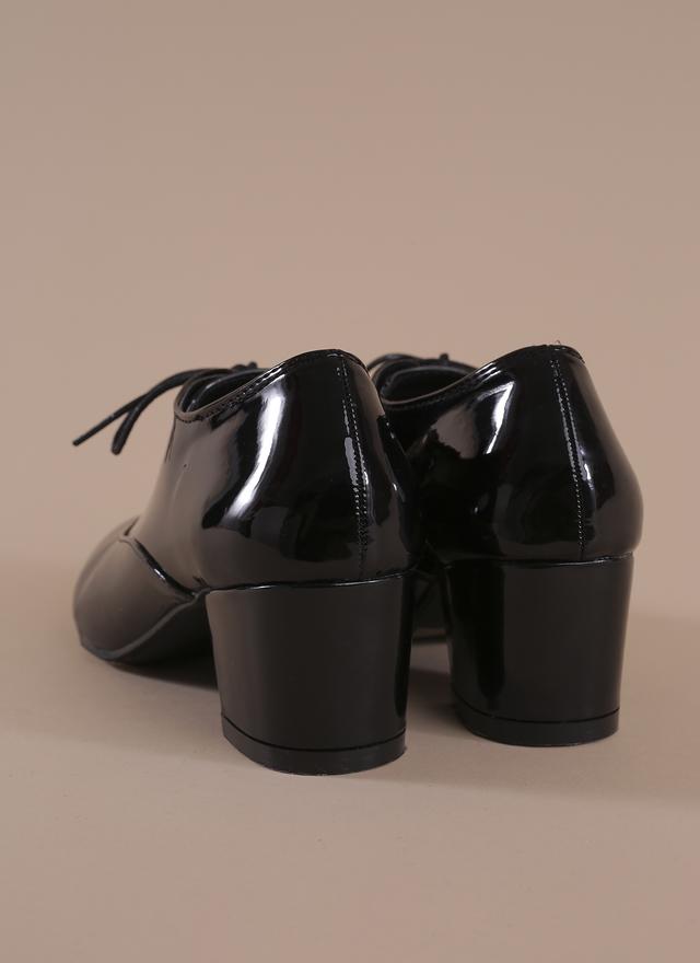 SH0038 淑女漆皮粗跟靴