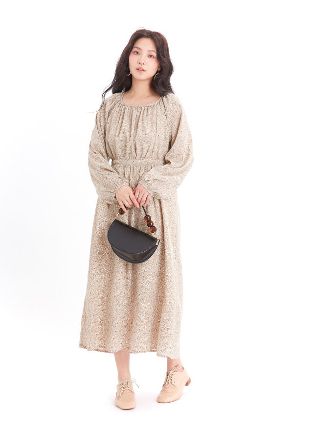 D1062麥穗花樣洋裝