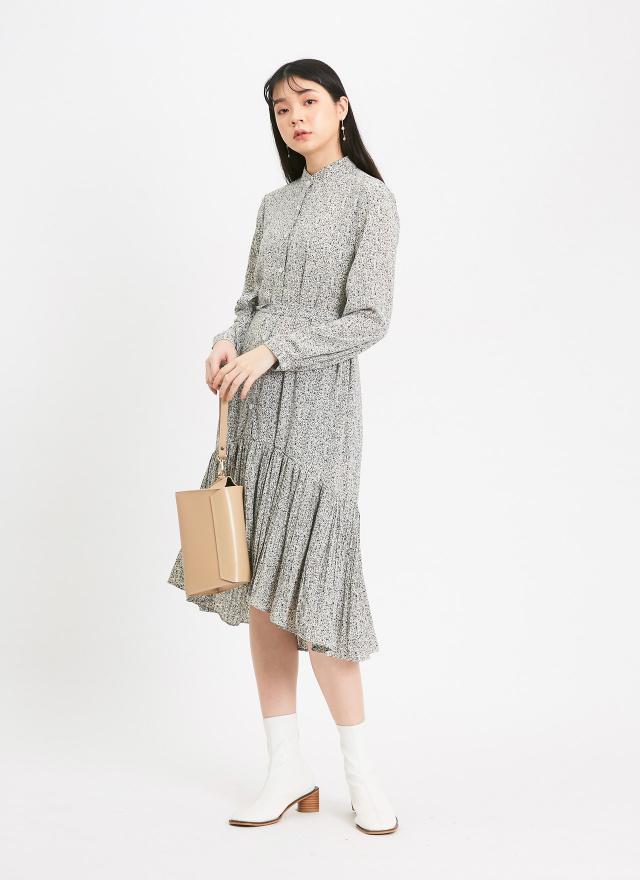 D0960英國女子細褶洋裝