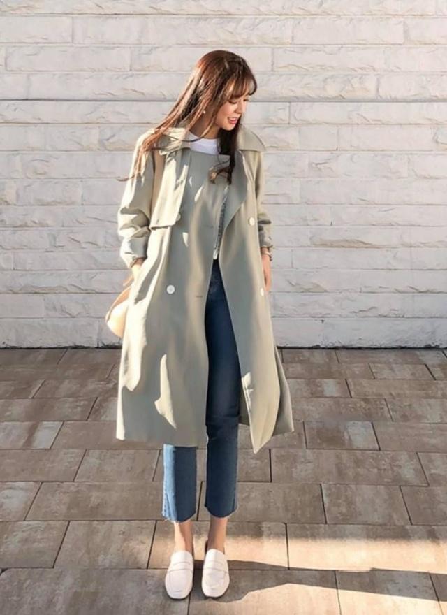 O0320 純淨色調雙排釦外套(特惠)