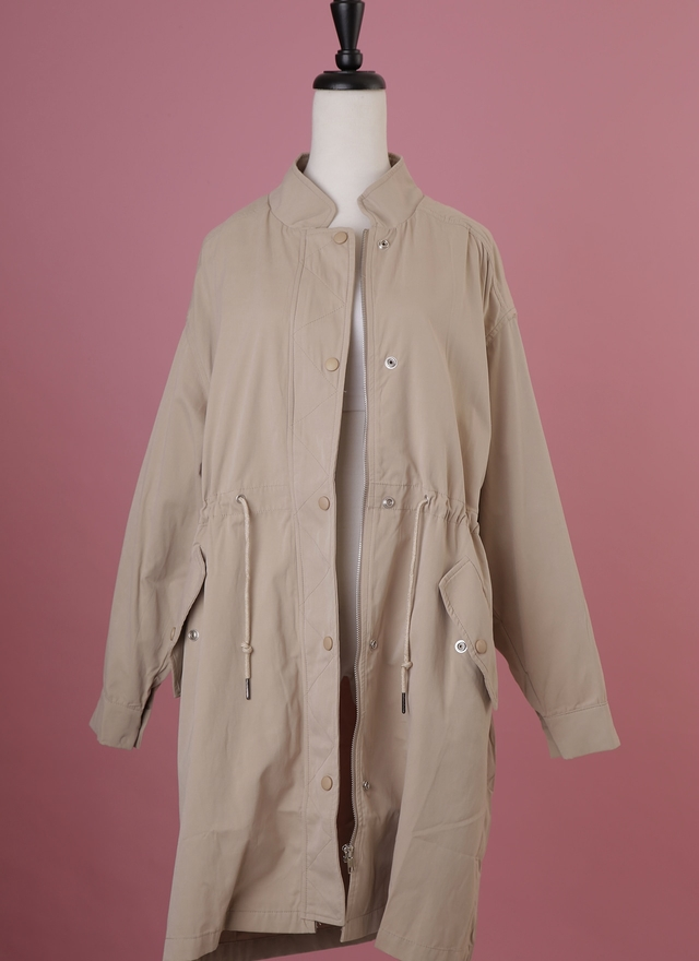 O0162 風尚卡其風衣外套