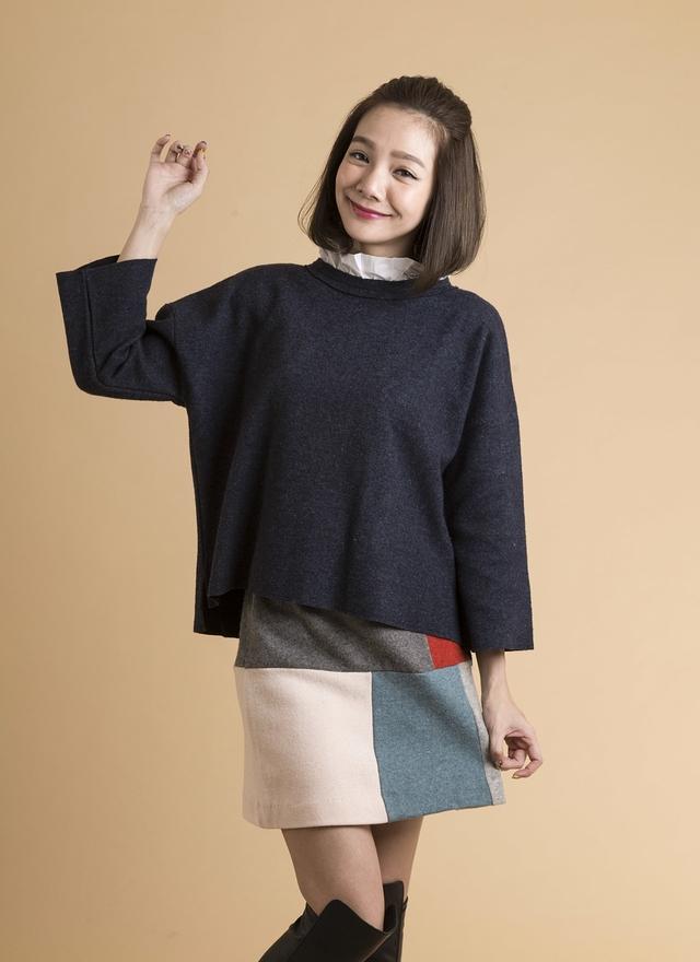S0268 藝術撞色造型短裙