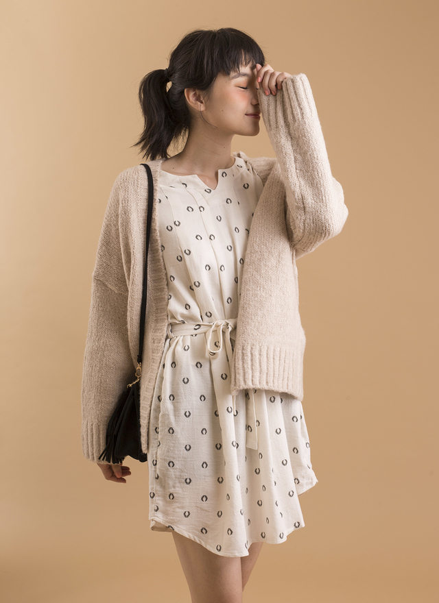 D0255 女孩感百搭秋葉洋裝